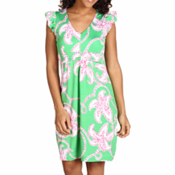 176c3a06fd3 Lilly Pulitzer Dresses   Skirts - Lilly Pulitzer Cherry Prep Green Pink  Twinkle M